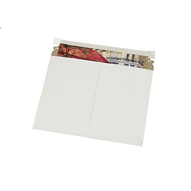 Staples® Self-Seal Utility Flat Mailers, White, 11-1/2
