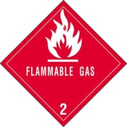 "Tape Logic Flammable Gas - 2"" Tape Logic Shipping Label, 4"" x 4"", 500/Roll"