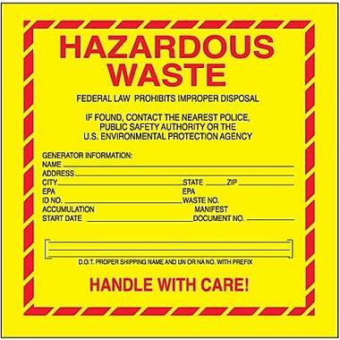 Tape Logic Hazardous Waste - Standard Shipping Label, 6