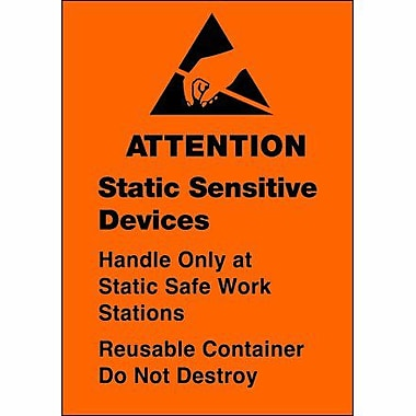 Tape Logic Static Sensitive Devices Shipping Label, 1 3/4