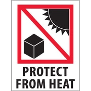 "Tape Logic Protect from Heat Shipping Label, 3"" x 4"", 500/Roll"