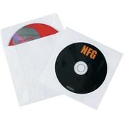 """4 7/8"""" x 5"""" Tyvek® Windowed CD Sleeves, 500/Case"""