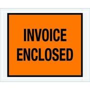 "Staples Packing List Envelope, 4 1/2"" x 5 1/2"" Orange Full Face ""Invoice Enclosed"", 1000/Case"