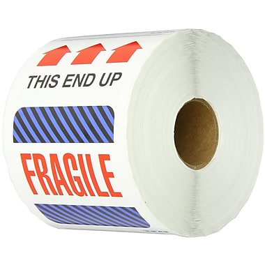 Tape Logic This End Up - Fragile Shipping Label, 4