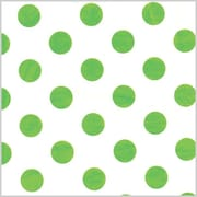 Shamrock Printed Tissue, Polka Dot Lime