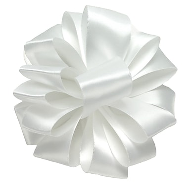 Shamrock Berwick/Offray White Double Face Satin Ribbon 1.5