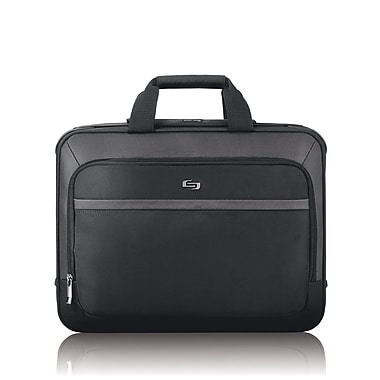 Solo Pro Smart Strap Laptop Briefcase, Black (CLA308-4)