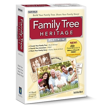Family Tree Heritage Platinum 8 for Windows (1-User) [Download]