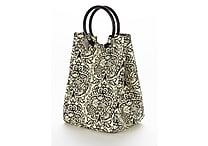 Fit & Fresh Retro Insulated Designer Lunch Bag with Ice Pack - Damask
