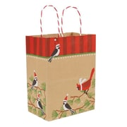 "Snowbirds on Kraft Shopping Bag, 8""W x 4-3/4""D x 10-1/2""H"