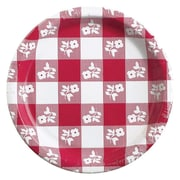 "Creative Converting Red Gingham 7"" Round Luncheon Plates, 8/Pack"