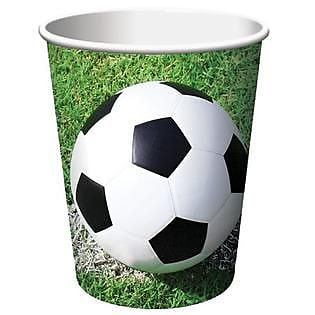 Creative Converting Soccer 9 oz. Hot/Cold Drink Cups, 8/Pack 1005850