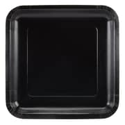 """Creative Converting Black Velvet 9"""" Square Dinner Plates, 18/Pack"""