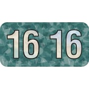 MAP Brand Holographic End-Tab Year Labels, 2016, Aqua