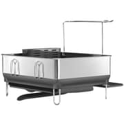 simplehuman Compact Steel Frame Dishrack, Stainless Steel/Grey