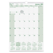"""Brownline® 2016 EcoLogix® Monthly Wall Calendar, Recycled Paper, Jan. - Dec., 12"""" x 17"""" (C171103)"""