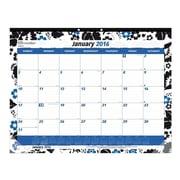 "Brownline® 2016 Monthly Desk Pad Calendar, Blossom Design, Jan. - Dec., 22"" x 17"" (C194112)"