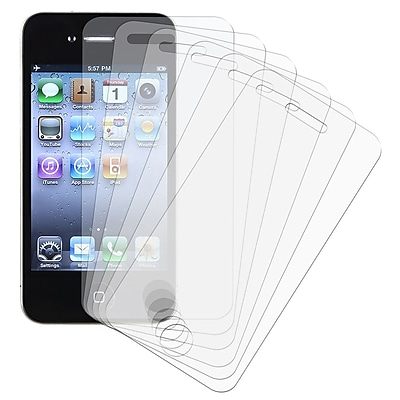 Insten Reusable Screen Protector For Apple iPhone 4 AT T Verizon 6 Set