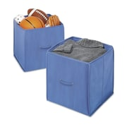 Whitmor Polypropylene/Fabric Collapsible Storage Cube, Blue