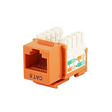 Monoprice® Cat6 Punch Down Keystone Jack, Orange