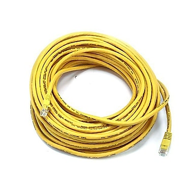 Monoprice® 75' 24AWG Cat5e UTP Ethernet Network Cable, Yellow
