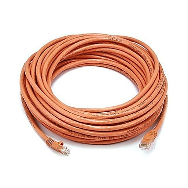 Monoprice® 50' 24AWG Cat6 UTP Ethernet Network Cable, Orange