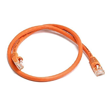 Monoprice® 2' 24AWG Cat6 UTP Ethernet Network Cable, Orange