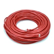 Monoprice® 100' 24AWG Cat5e UTP LC Male to Male Ethernet Network Cable, Red