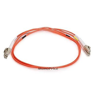 Monoprice® 1 m OM1 LC to LC Fiber Optic Cable, Orange