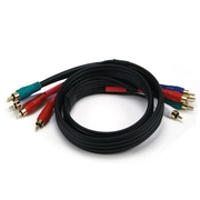 Monoprice® 3' 5-RCA Component 22AWG Video/Audio Coaxial Cable, Black