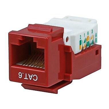 Monoprice® Cat6 RJ-45 Toolless Keystone Jack, Red