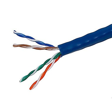 Monoprice® 1000' 24AWG Cat5e UTP Solid Bulk Ethernet Cable, Blue