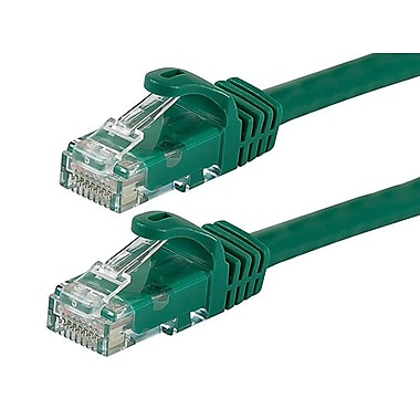 Monoprice® FLEXboot Series 5' 24AWG Cat6 UTP Ethernet Network Cable, Green