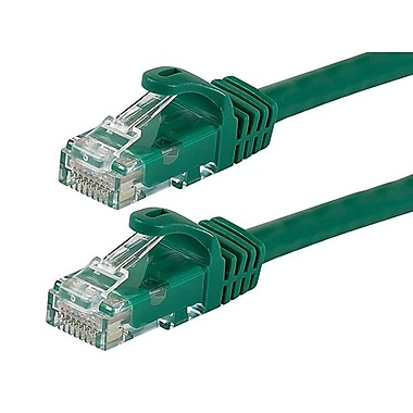 Monoprice® FLEXboot Series 7' 24AWG Cat6 UTP Ethernet Network Cable, Green