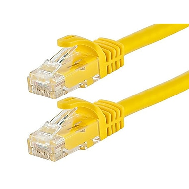 Monoprice® FLEXboot Series 7' 24AWG Cat6 UTP Ethernet Network Cable, Yellow