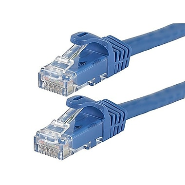 Monoprice® FLEXboot Series 3' 24AWG Cat6 UTP Ethernet Network Cable, Blue
