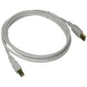 Monoprice® 6' Gold Plated USB 2.0 A Male to B Male 28/24AWG Cable, White