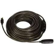 Monoprice® 82' USB 2.0 A Male to A Female Active Extension/Repeater Cable, Black