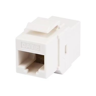 Monoprice® Cat6 Inline Coupler Type Keystone Jack, White