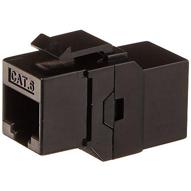 Monoprice® Cat6 Inline Coupler Type Keystone Jack, Black