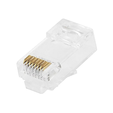Monoprice® Cat6 Plug Stranded Connector With Insert 50u