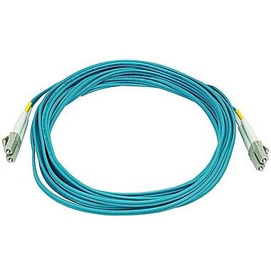 Monoprice® 5 m OM3 LC to LC Fiber Optic Cable, Aqua