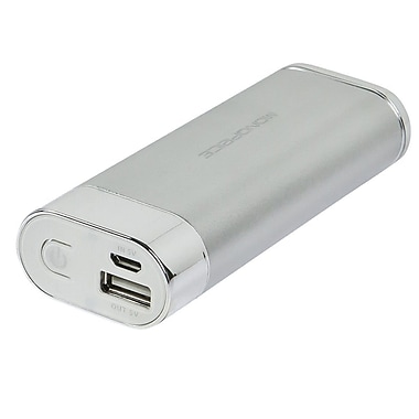 Monoprice® 1.5 A Battery Backup With LED Flashlight For iPhone/iPod/USB Devices, Silver