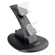 Insten® 1713807 Dual USB Stand Charger For Sony PlayStation 4 Controller, Black