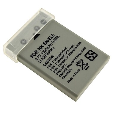 Insten® 202666 3.7 VDC Rechargeable Li-ion Battery For Nikon EN-EL5, Gray