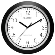 La Crosse Technology 404-1236 13.5 Inch Analog Atomic Black frame clock