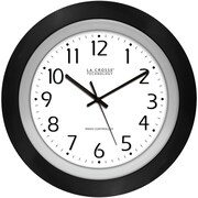 La Crosse Technology 404-1225 10 Inch Analog Atomic Black frame clock