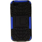 URGE Basics Armor Clip Case for iPhone 5, Black Blue