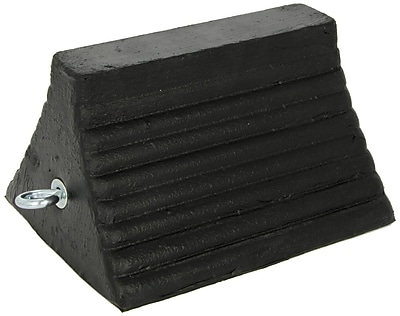 Checkers Roadblock Rubber Wheel Chock With Bottom Void Black
