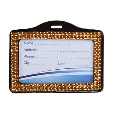 Insten® Horizontal Business Card Holder, Orange